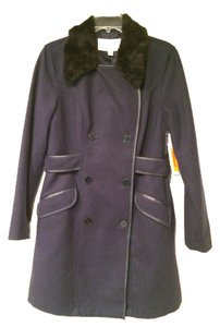 French Connection Faux Fur Pea Uk Style Trench Coat