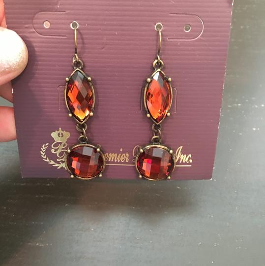 Premier Designs Premier Designs Orange Jeweled Drop Earrings