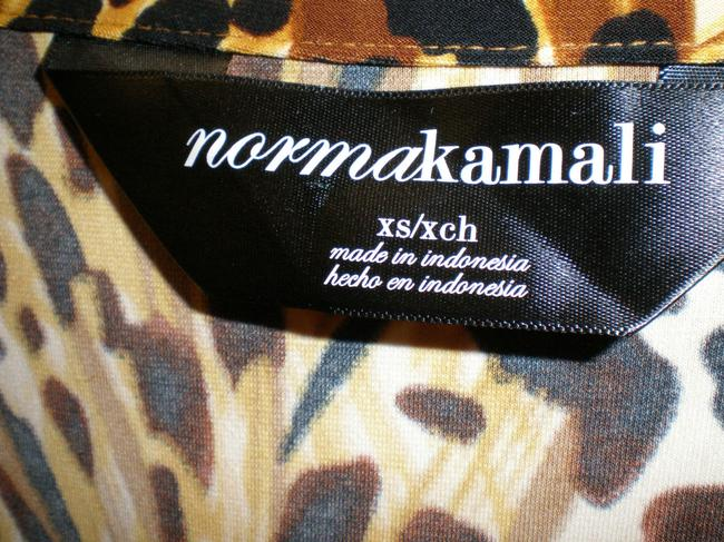 Norma Kamali Leopard Wrap Sweetheart Dress