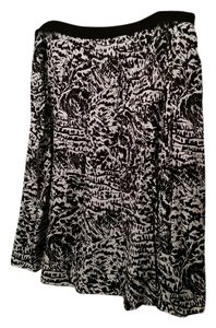 Liz Claiborne Cotton Silk A-line Skirt Print