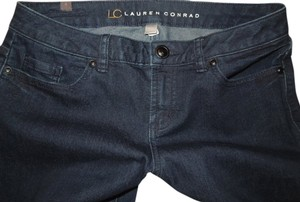 LC Lauren Conrad Juniors Womens Straight Leg Jeans-Dark Rinse