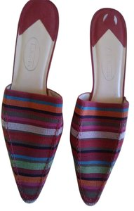 Talbots Multi Color Mules