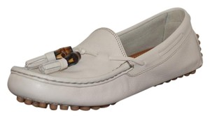 Gucci Leather Mystic White Flats