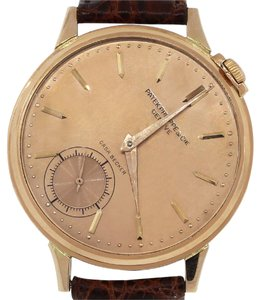 Patek Philippe Patek Philippe Casa Becker 18k Rose Gold Brown Leather Watch