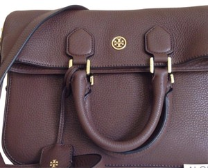 Tory Burch Dark walnut Messenger Bag