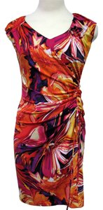 Oleg Cassini Tropical Sheath Hawaiian Summer Dress