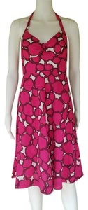 J.Crew short dress Fuchsia Halter Seersucker Cotton on Tradesy