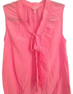 Lilly Pulitzer Lilly Bright Chiffon Light Bow Top Pink