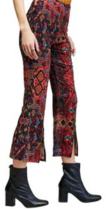 Stone Cold Fox Print Flare Cropped Super Flare Pants