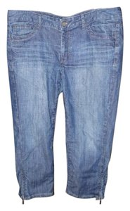 Calvin Klein Ankle Zip Cropped Capri Relaxed Fit Jeans-Medium Wash