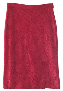 Anthropologie Skirt Vibrant red