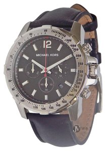 Michael Kors BRAND NEW MENS MICHAEL KORS (MK8379) CHRONO BLACK LEATHER WATCH