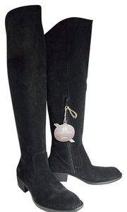 Crown by Børn Suede Over The Knee black Boots