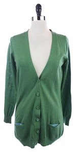 Boden Wool Button Down Vneck Sweater