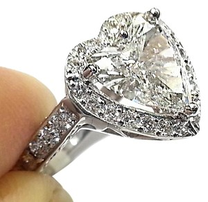 DeWitt's GIA Certified 1.52 Ct, G-SI2 Heart Shaped Diamond Ring