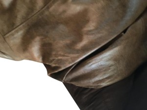 Context Beige Leather Jacket