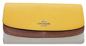 Coach NWT Tri Color Coach Wallet