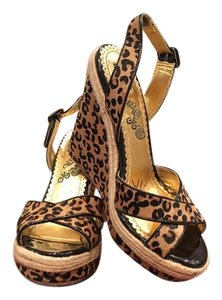 Naughty Monkey Leopard Wedges