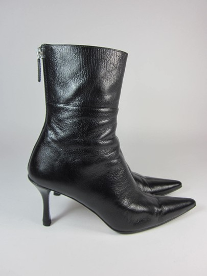 Gucci Leather Short Black Boots