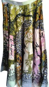 Autograph Vintage Ethnic Sequined Skirt Multi-Color