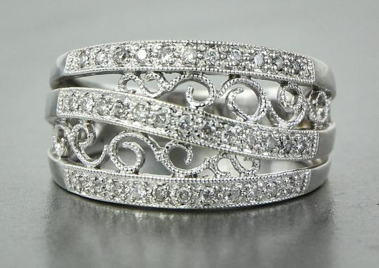 Other * Art Deco Style Ladies Paved Diamond Ring