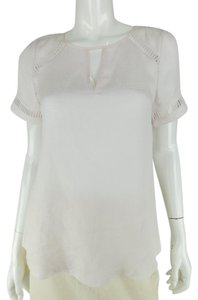 Rebecca Taylor New Sheer Top Pale pink