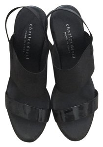 Charles David Black Wedges