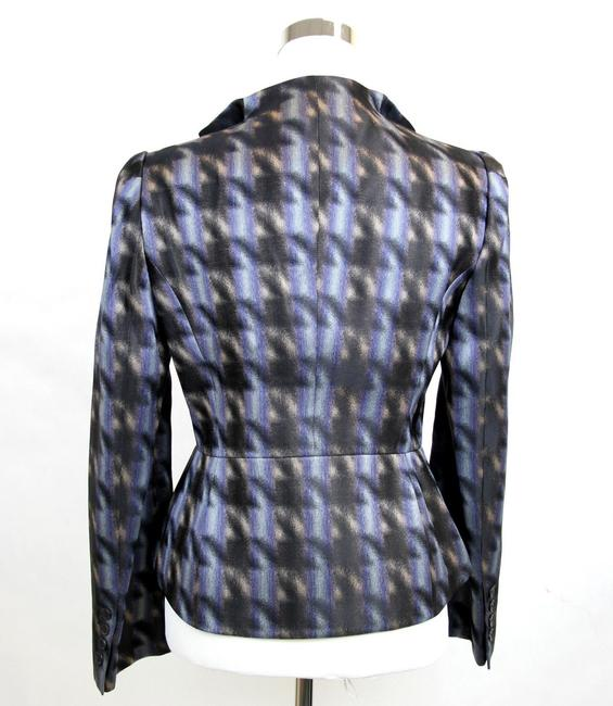 Gucci Runway Silk Houndstooth Jacket Multi-Color Blazer