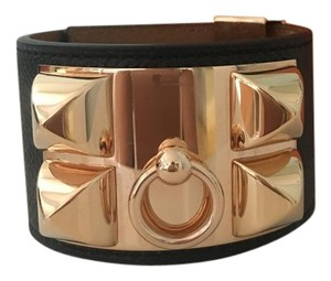 Hermès Hermes Black CDC in Leather with Rose gold hardware
