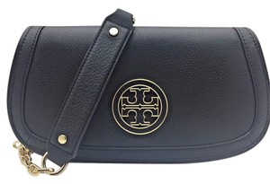 Tory Burch Amanda Flap Crossbody Black Clutch