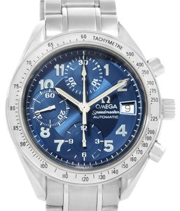 Omega Omega Speedmaster Date Blue Dial Chronograph Mens Watch 3513.82.00