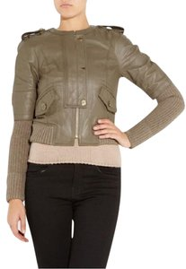 Tory Burch Olive Green Leather Jacket