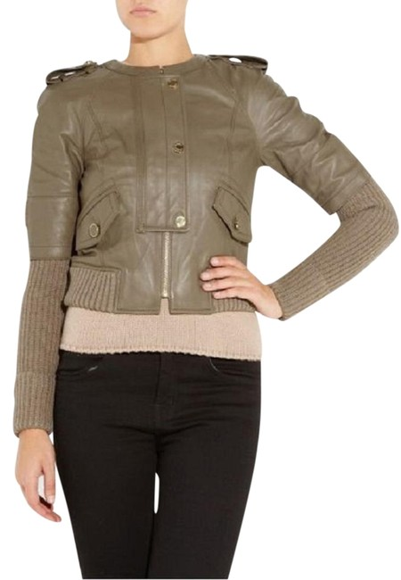 Preload https://img-static.tradesy.com/item/19413547/tory-burch-olive-green-leather-jacket-size-4-s-0-3-650-650.jpg