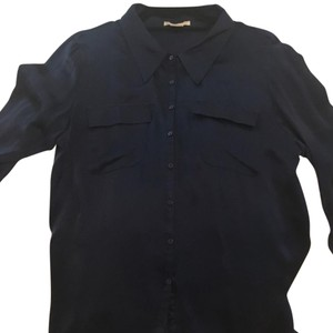 Gold Hawk Button Down Shirt Navy
