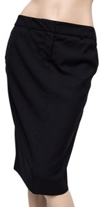 NICOLE FARHI Wool Lined Pencil Uk Skirt Black
