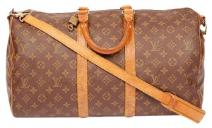 Louis Vuitton Strap Need Repair Brown Travel Bag