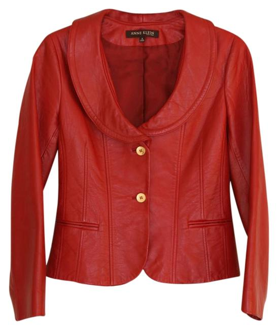 Preload https://item1.tradesy.com/images/anne-klein-red-leather-jacket-size-4-s-19413695-0-1.jpg?width=400&height=650