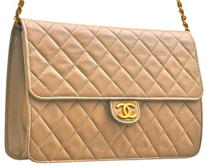 Chanel Quilted Lambskin Leather Shoulder Bag