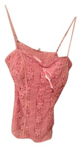 Candie's Flirty Lingerie Lace Night Out Top pink