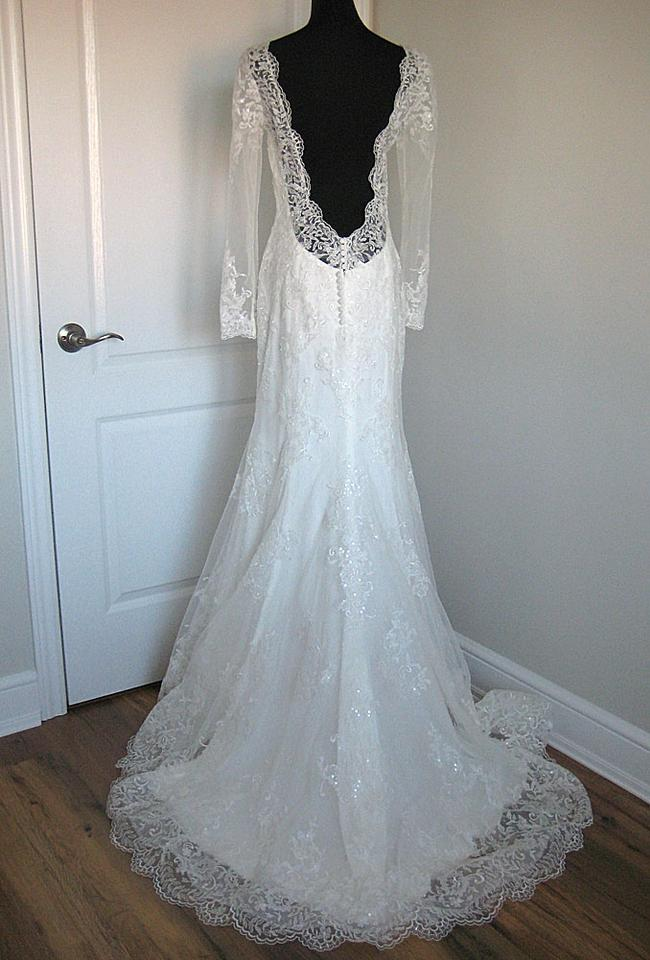 Maggie Sottero Ivory Lace Roberta Feminine Wedding Dress Size 6 (S ...