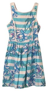 Lilly Pulitzer short dress Blue, white, pink and green on Tradesy