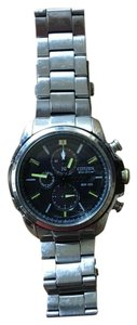 Citizen Mens Citizen Eco Drive WR100 Stainless Steel Chronograph Watch