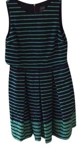 Taylor short dress Navy and green on Tradesy