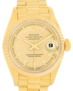 Rolex Rolex President Datejust Ladies 18k Yellow Gold Roman Dial Watch 69178