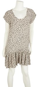 Joie short dress Cream & Black on Tradesy