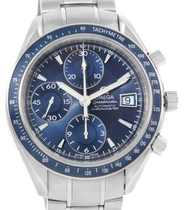Omega Omega Speedmaster Date Blue Dial Automatic Mens Watch 3212.80.00
