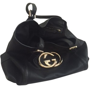 Gucci Leather Logo Brit Shoulder Bag