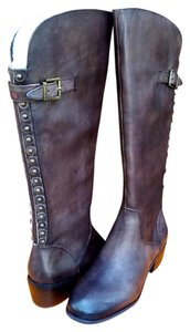 Arturo Chiang Dark Brown Leather Boots