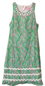 Lilly Pulitzer short dress Green, white, pink and yellow. on Tradesy