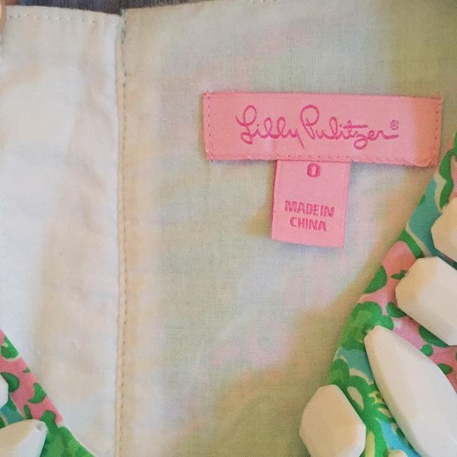 Lilly Pulitzer short dress Green, white, pink and yellow. Shift Beaded on Tradesy